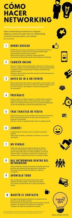 10 Consejos para hacer networking - Infografía